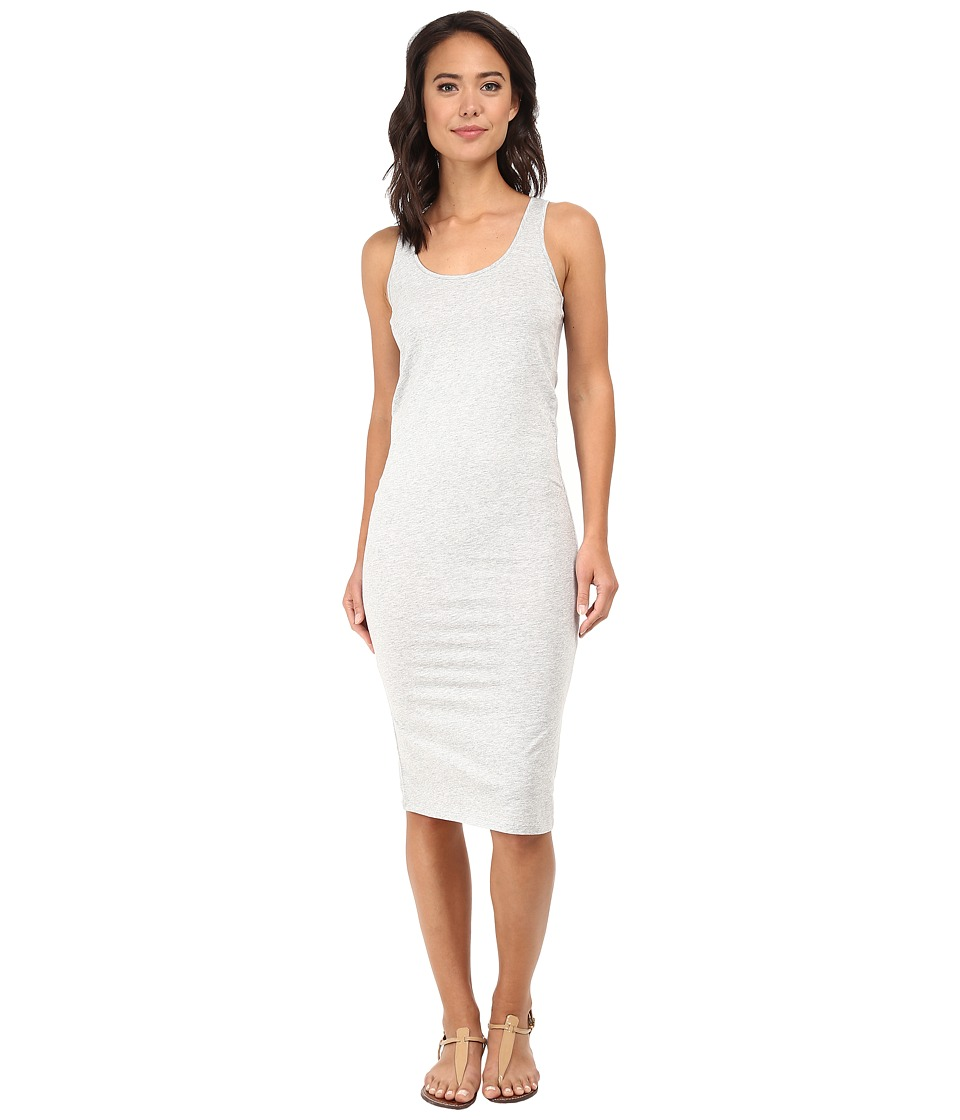 Alternative - Modal Racer Midi Dress (Heather Grey) Women