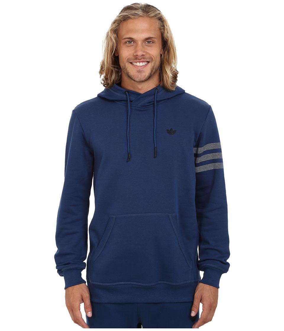 adidas Originals - Sport Luxe Fleece Hoodie (Oxford Blue/Oxford Blue/Black) Men