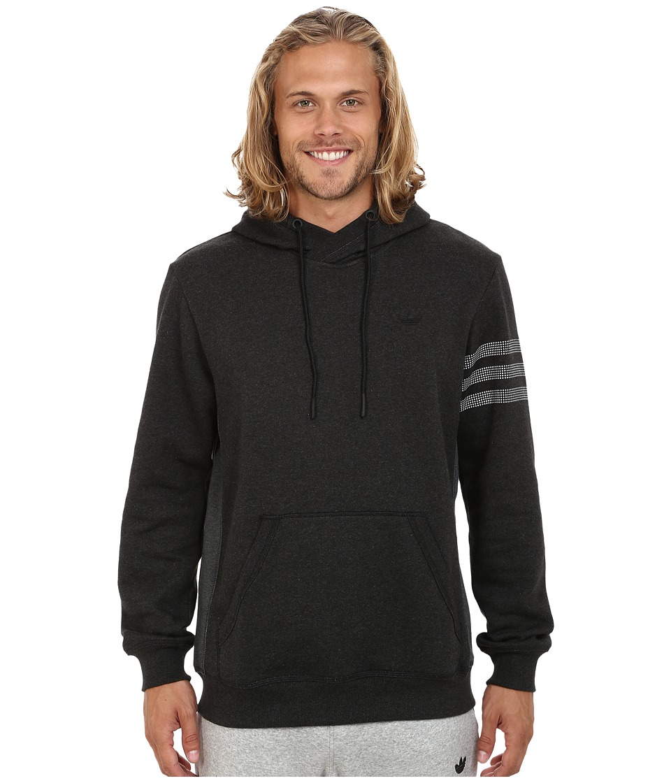 adidas Originals - Sport Luxe Fleece Hoodie (Black Melange/Dark Grey Heather/Black) Men's Sweatshirt