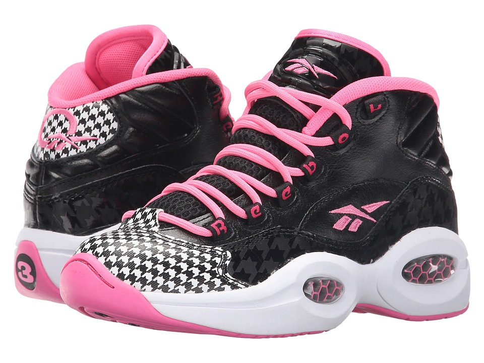 Reebok Kids - Question (Big Kid) (Black/Electro Pink/White) Girls Shoes