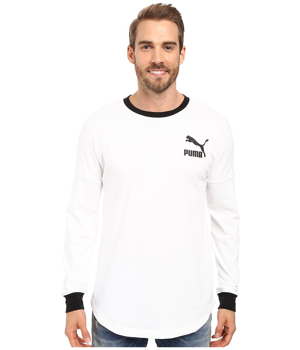 PUMA - Progressive Long Sleeve Top (White) Men's Clothing