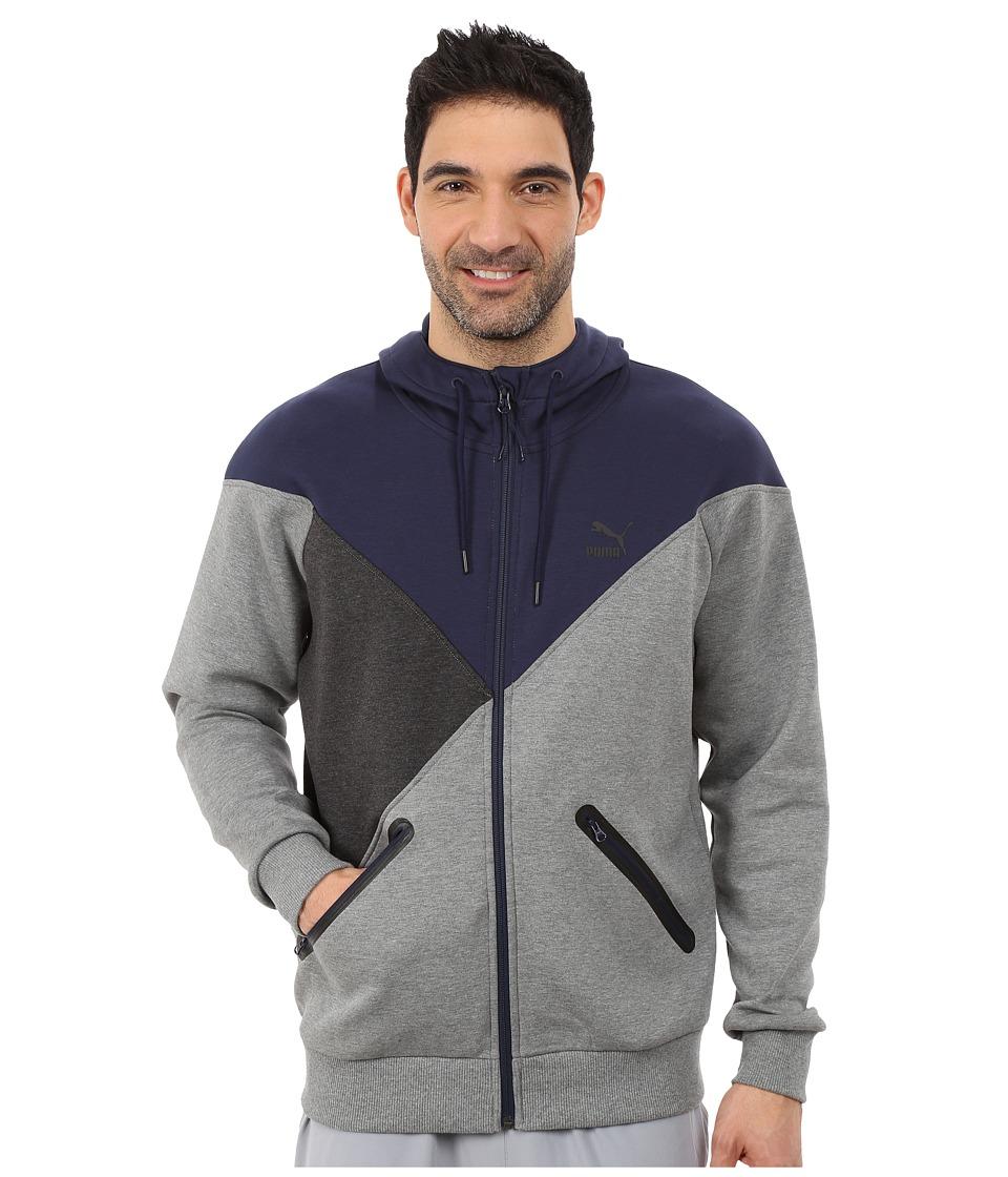 PUMA - Cut Line Track Jacket (Medium Gray Heather) Men