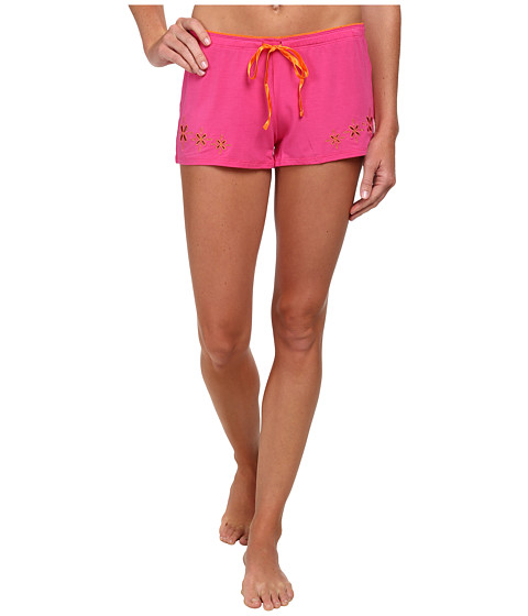 P.J. Salvage - Butterfly Beauty Solid Shorts (Fuchsia) Women