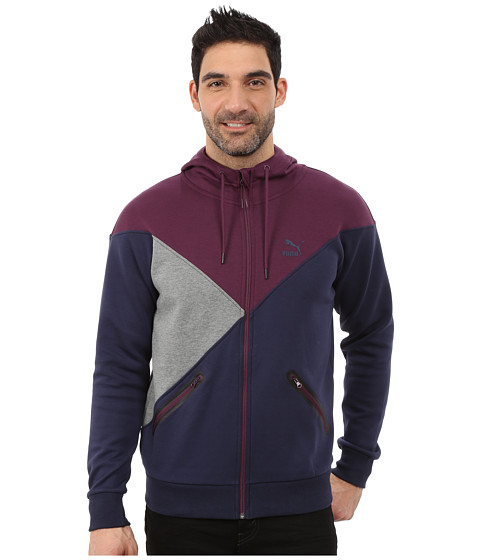 PUMA - Cut Line Track Jacket (Peacoat) Men's Coat