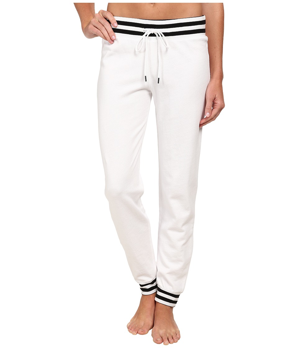 P.J. Salvage - French Terry Jogger Pants (White) Women's Pajama