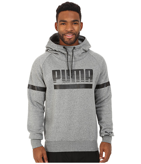 PUMA - Graphic Hoodie (Medium Gray Heather) Men