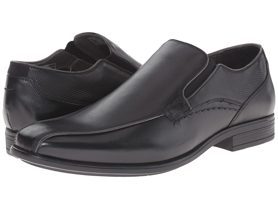 Hush Puppies - Carter Maddow (Black Leather) Men's Slip-on Dress Shoes