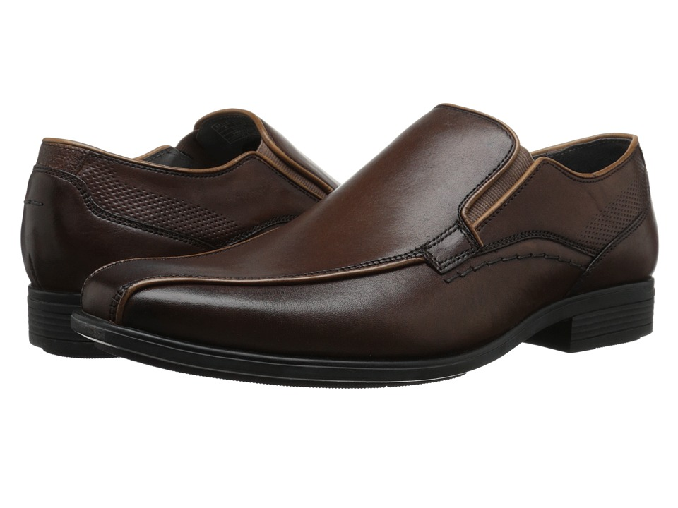 Hush Puppies - Carter Maddow (Brown Leather) Men's Slip-on Dress Shoes