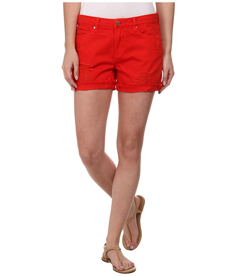 Blank NYC - Red Shorts with Rip in Crimson Wave (Crimson Wave) Women's Jeans