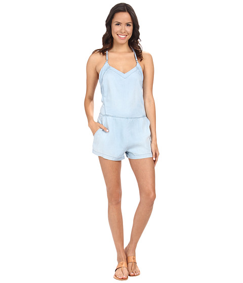Blank NYC - Light Wash Denim Romper in Keep The Lights On (Keep The Lights On) Women