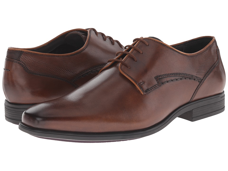 Hush Puppies - Kane Maddow (Brown Leather) Men's Lace Up Cap Toe Shoes