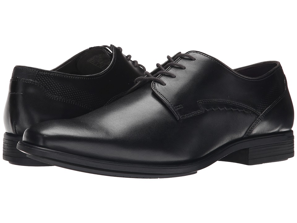 Hush Puppies Kane Maddow (Black Leather) Men's Lace Up Cap Toe Shoes