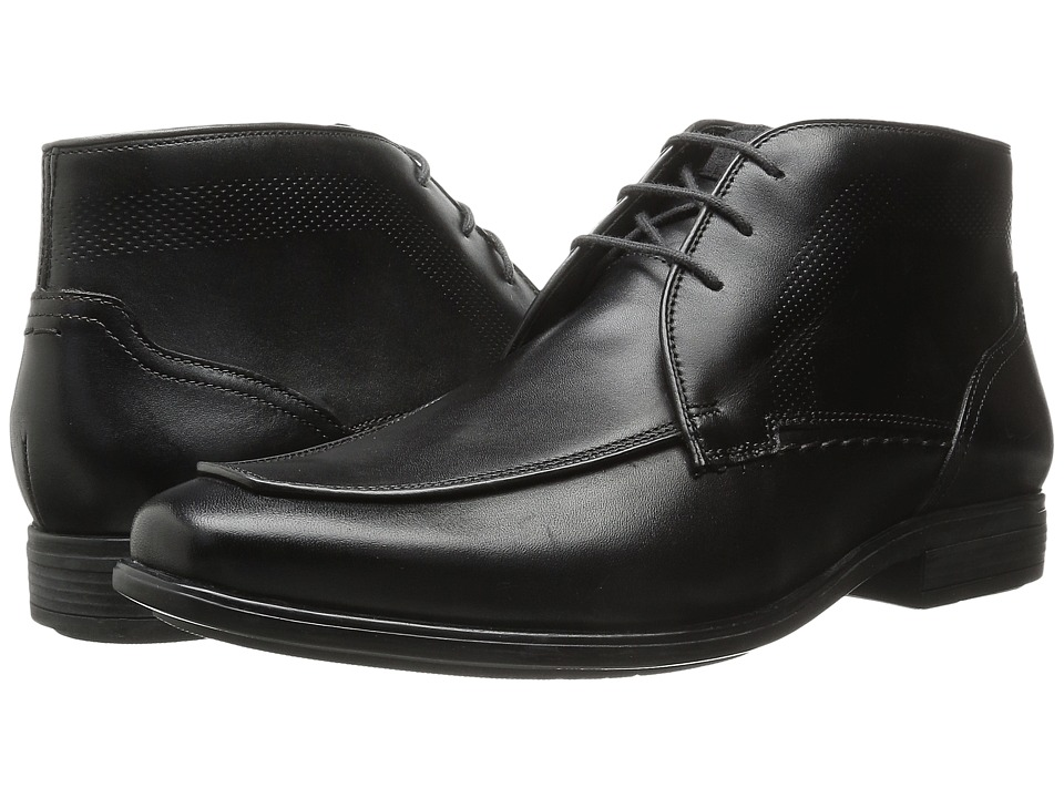 Hush Puppies - Tom Maddow (Black Leather) Men's Lace Up Cap Toe Shoes