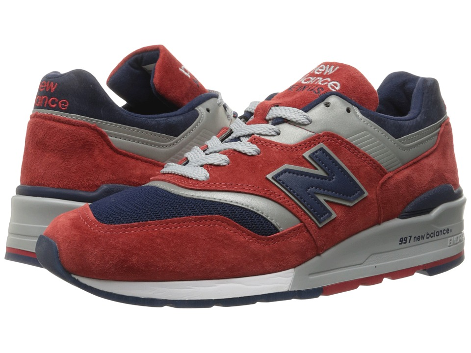 New Balance - M997 (Red/Navy/Pig Suede/Mesh) Men's Classic Shoes