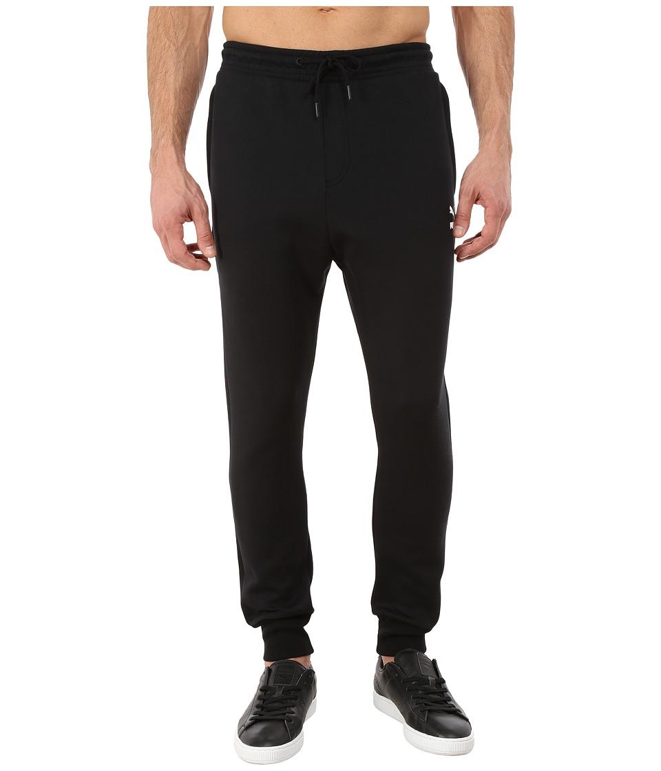 PUMA - Tri Runner Sweat Pants (Black/White) Men's Casual Pants