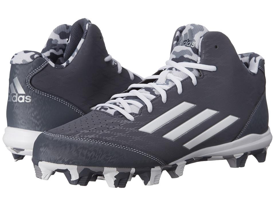 adidas - Wheelhouse 3 Mid Baseball (Onix/White/Grey Metallic) Men's Cleated Shoes