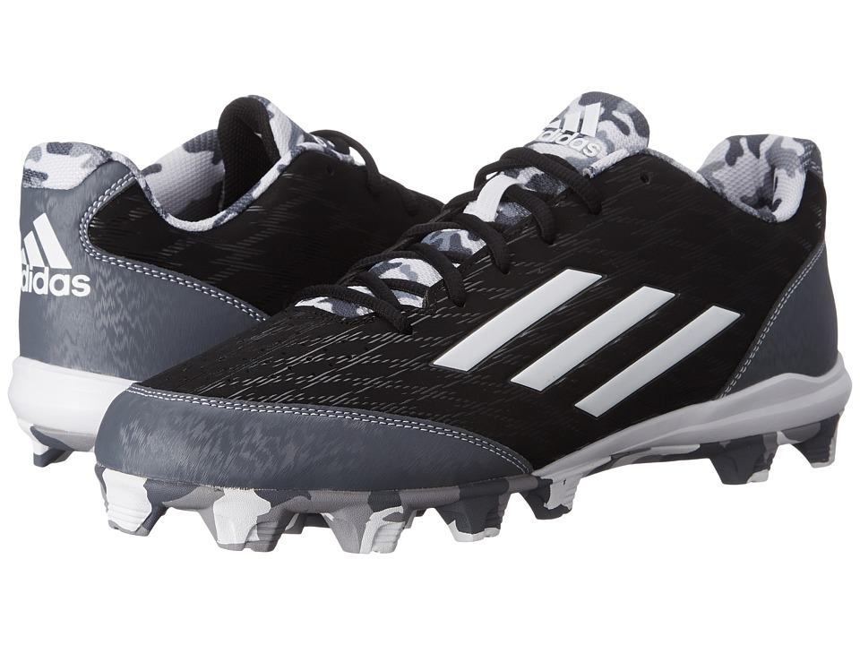 adidas - Wheelhouse 3 Baseball (Black/White/Carbon Metallic) Men's Cleated Shoes