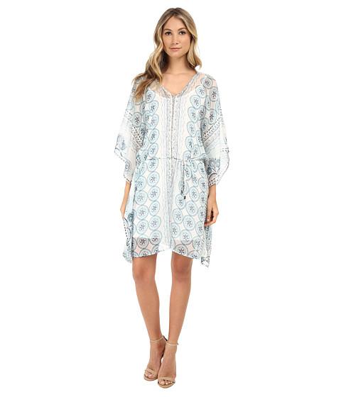 Brigitte Bailey - Print Chiffon Dress (Blue) Women