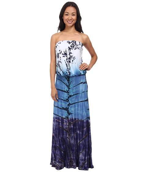 Brigitte Bailey - Tye Dye Maxi Dress (Blue) Women