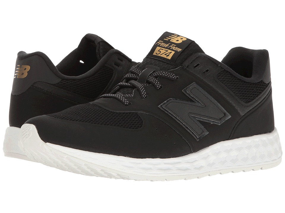 New Balance MFL574 (Black Synthetic/Mesh) Men