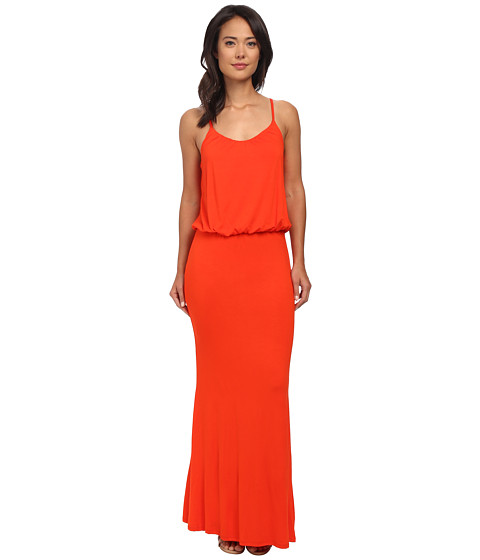 Brigitte Bailey - Kelsie Spaghetti Strap Maxi Dress (Orange) Women