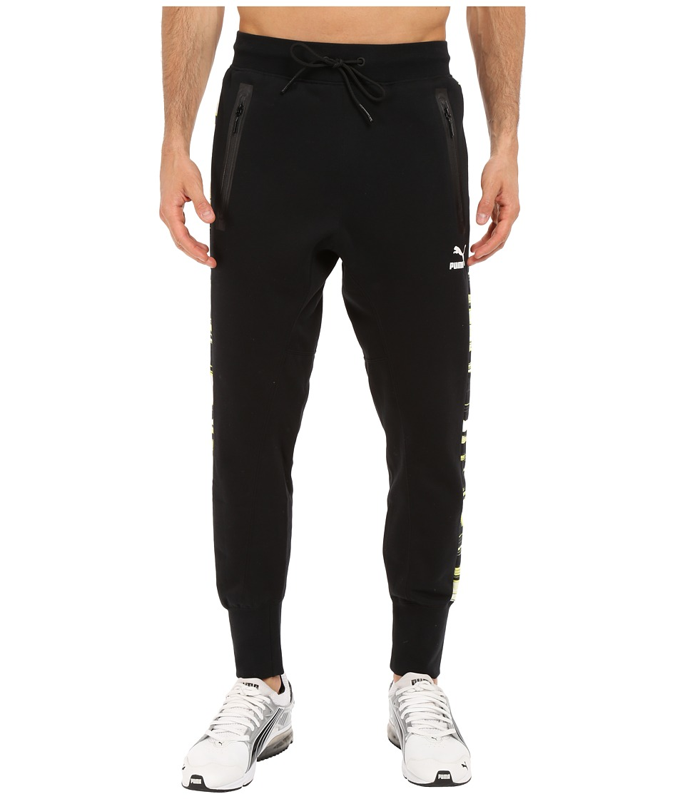 PUMA - Evo Sweat Pants (Black/Sulphur Spring Print) Men