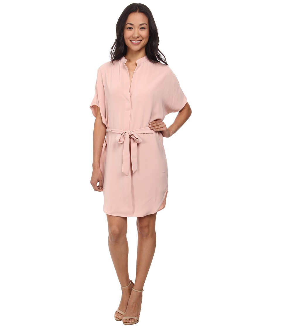 Brigitte Bailey - Clara Butterfly Arm Dress w/ Tie Belt (Blush) Women
