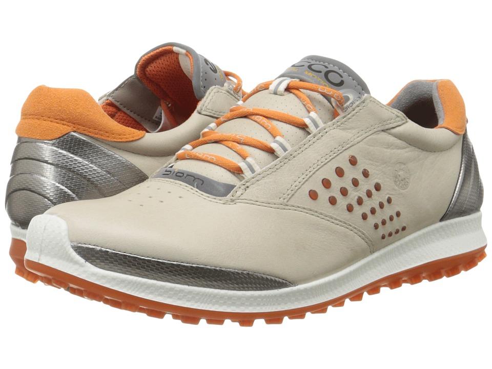 ECCO Golf BIOM Hybrid 2 (Oyster/Orange) Women