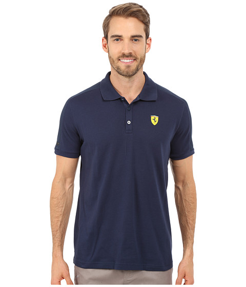 PUMA - SF Polo (Dress Blues) Men's Short Sleeve Pullover