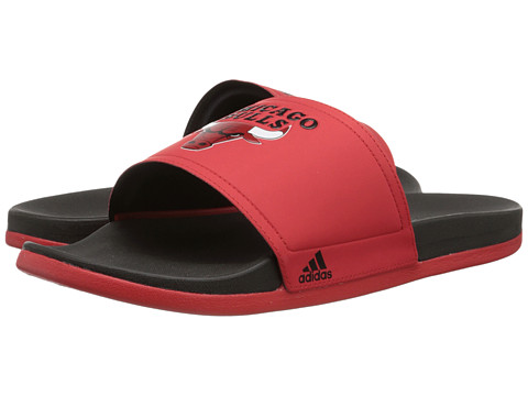 adidas - Adilette - Chicago Bulls (Vivid Red/Black/Red) Men