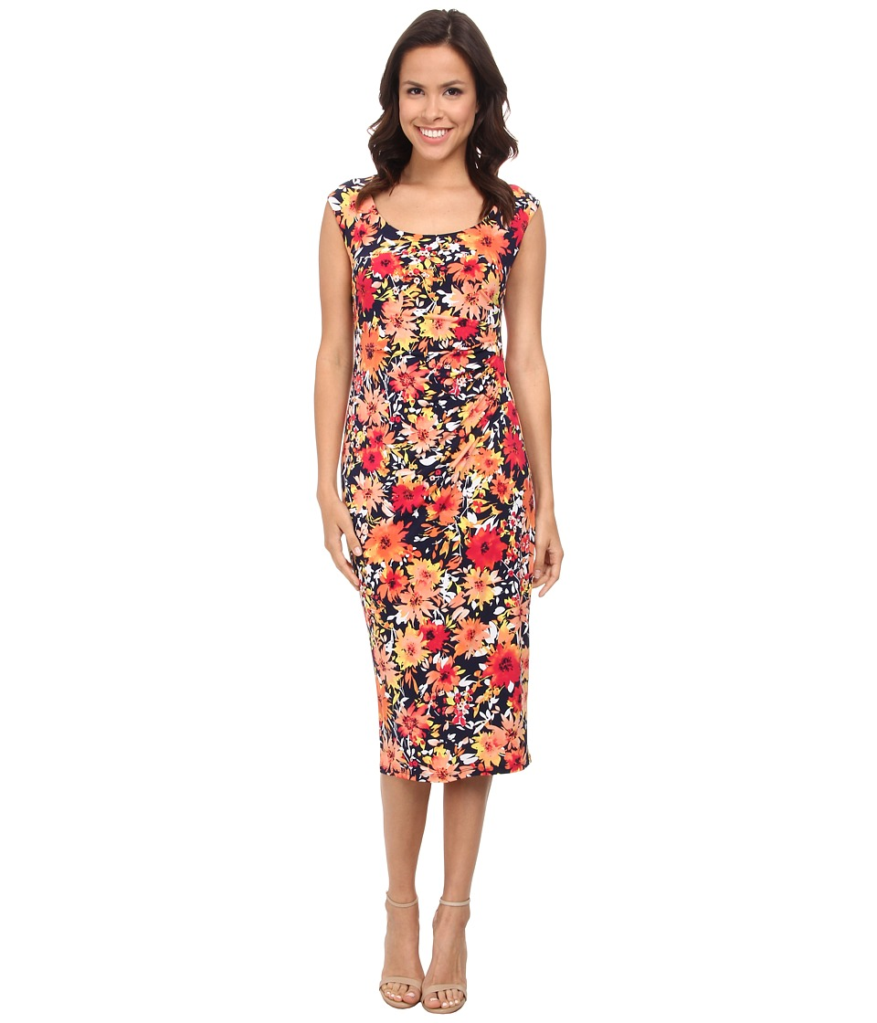 Jones New York - Scoop Neck Dress (Navy Multi) Women's Dress
