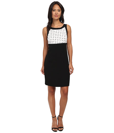 Jones New York - Color Block Shift (White) Women's Dress