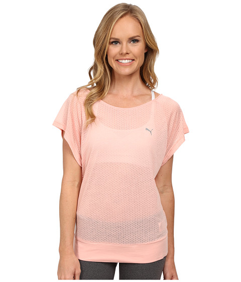 PUMA - ST Burnout Layer Tee (Coral Cloud Pink) Women's T Shirt