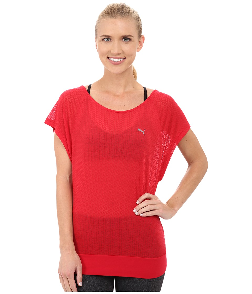 PUMA - ST Burnout Layer Tee (Lipstick Red) Women