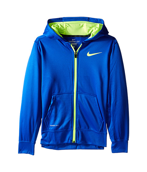 Nike Kids - KO 3.0 FZ Hoodie (Little Kids/Big Kids) (Game Royal/Volt/Volt) Boy's Sweatshirt