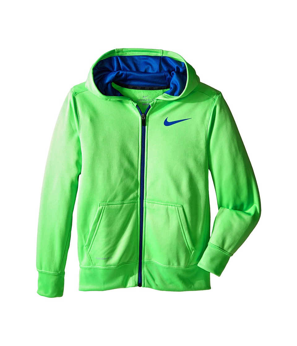 Nike Kids - KO 3.0 FZ Hoodie (Little Kids/Big Kids) (Green Strike/Game Royal/Game Royal) Boy