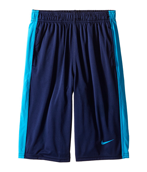 Nike Kids - Fly Short (Little Kids/Big Kids) (Midnight Navy/Blue Lagoon/Blue Lagoon) Boy