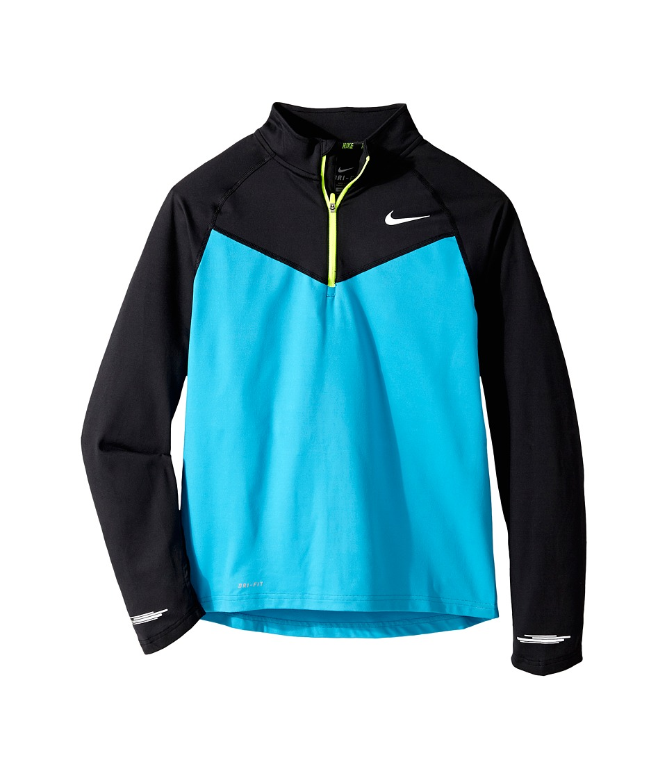 Nike Kids - Element 1/2 Zip L/S Top (Little Kids/Big Kids) (Blue Lagoon/Black/Volt) Boy
