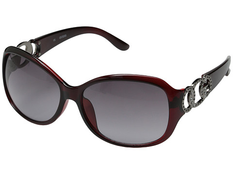 GUESS - GUF 249 (Dark Burgundy/Grey Gradient) Fashion Sunglasses