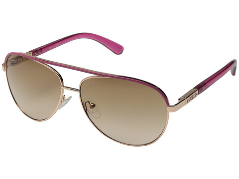 GUESS - GUF 224 (Rose Gold/Brown To Rose Gradient) Fashion Sunglasses