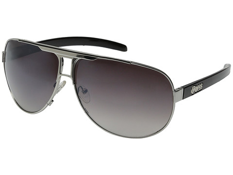 GUESS - GU 6591 (Satin Silver/Grey Gradient) Fashion Sunglasses