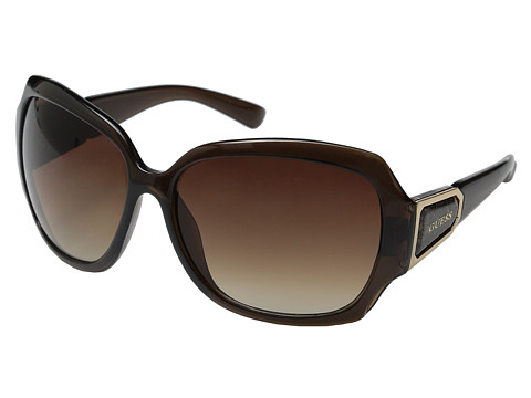 GUESS - GUF 217 (Dark Brown Crystal/Brown Gradient) Fashion Sunglasses