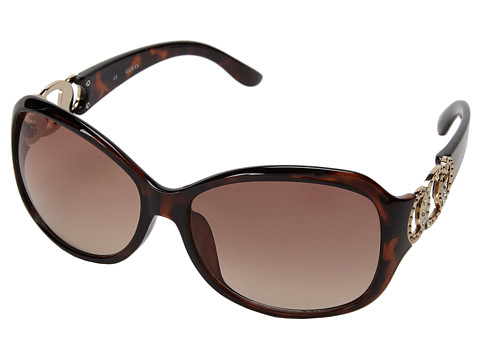 GUESS - GUF 249 (Dark Tortoise/Brown Gradient) Fashion Sunglasses