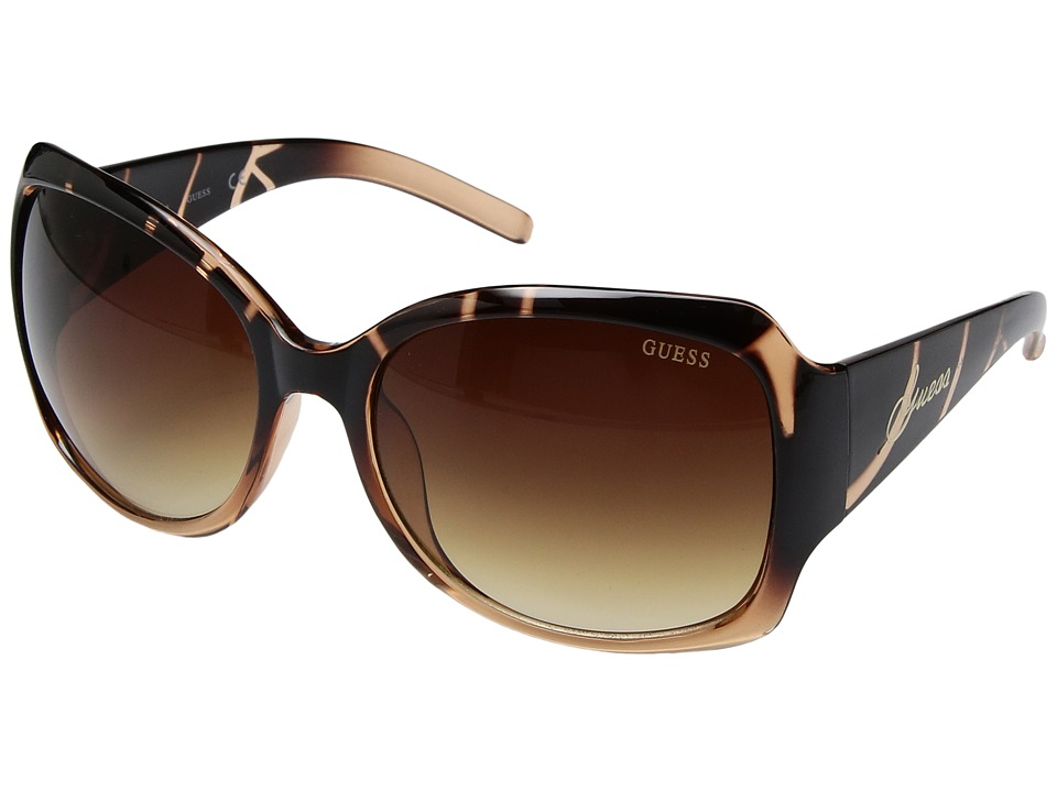GUESS - GF 200 (Tortoise Amber/Grey Gradient) Fashion Sunglasses