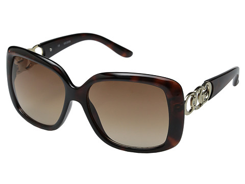 GUESS - GUF 231 (Tortoise/Brown Gradient) Fashion Sunglasses