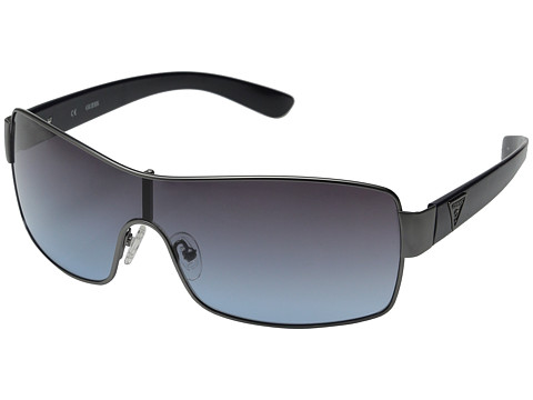 GUESS - GF 6594 (Satin Gunmetal/Grey To Blue Gradient) Fashion Sunglasses