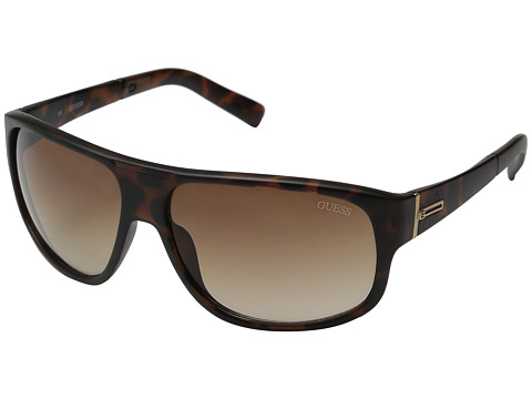 GUESS - GUF 130 (Matte Dark Tortoise/Brown Gradient) Fashion Sunglasses