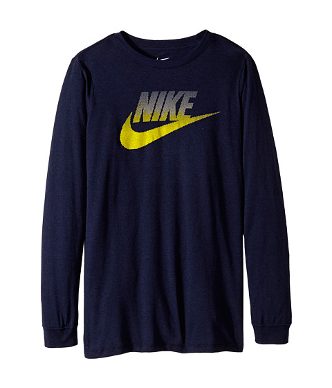 Nike Kids - CAT HBR Futura SSNL Long Sleeve Tee (Little Kids/Big Kids) (Obsidian/Obsidian) Boy