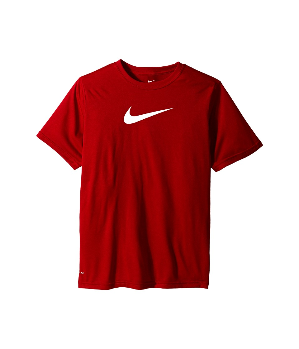 Nike Kids - Essentials Legend S/S Top (Little Kids/Big Kids) (Gym Red/Gym Red/White) Boy's Workout