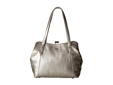 Emma Fox - Dressage Frame Satchel (Pewter) Satchel Handbags